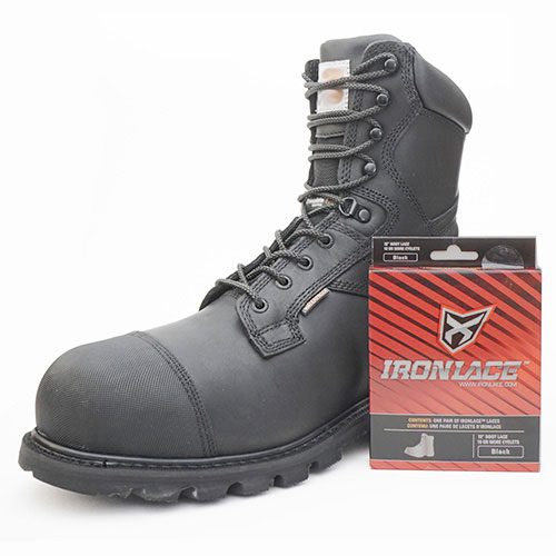 ironlace black bootlaces shoelaces